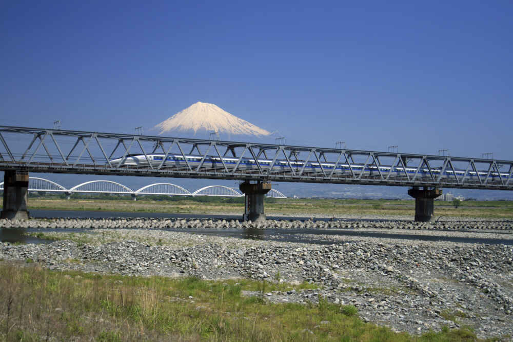 Japan Rail Pass: Shinkansen in front of Mount Fuji