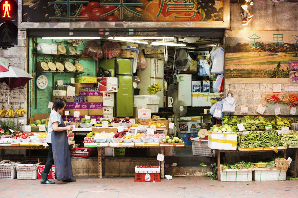Food merchant in the western district of Hong Kong, China - Backyard Travel