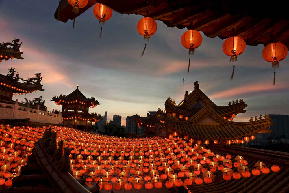 red lanterns in China - backyard Travel