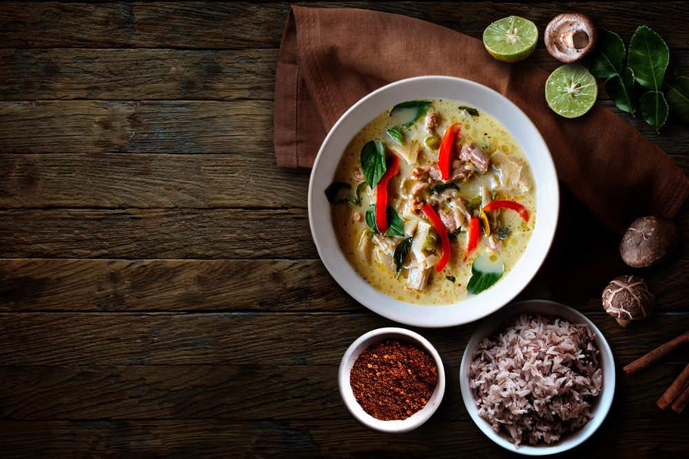 Bangkok food tour: plate of curry
