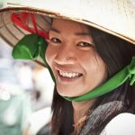 Street food vendor in the street of Ho Chi Minh, Vietnam.