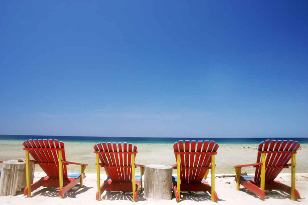 Thailand beach with chairs