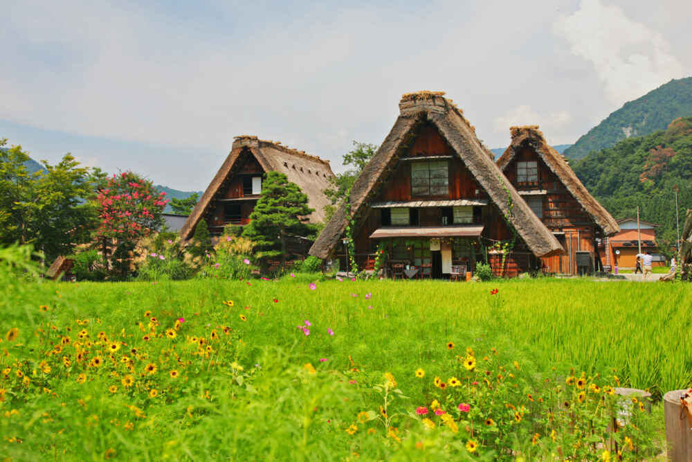 best time to visit Japan: summer - Shirakawago village nearby Takayama