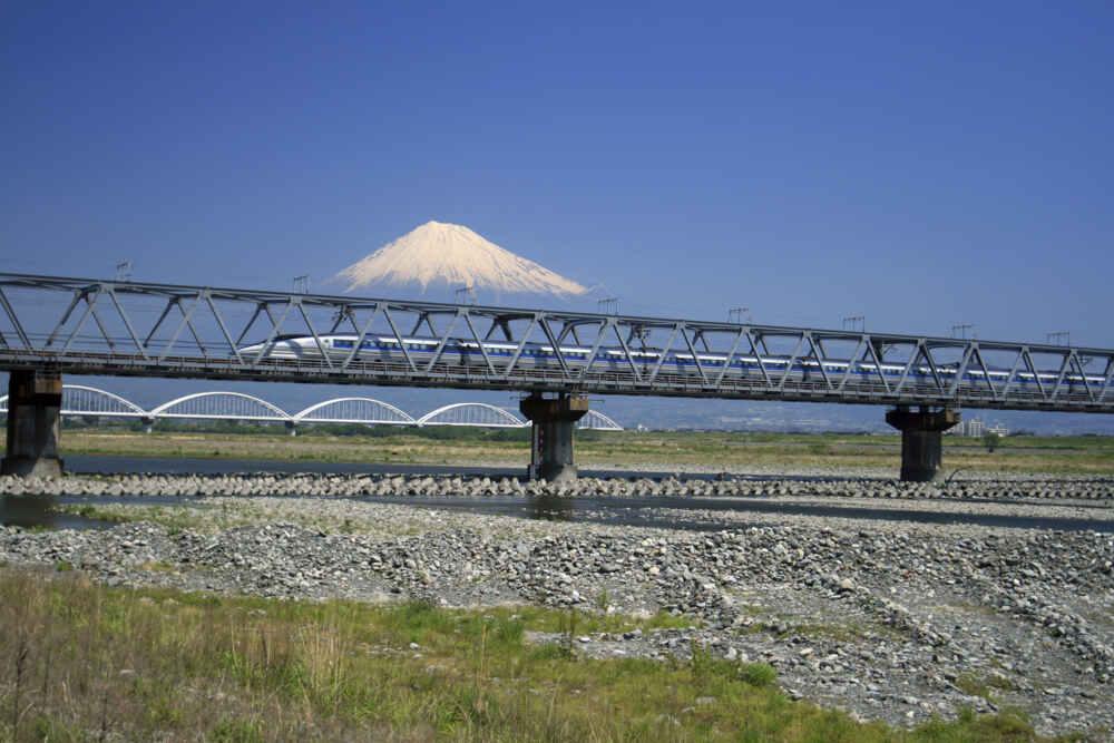Japan Rail Pass: Shinkansen in front of Mount Fuji