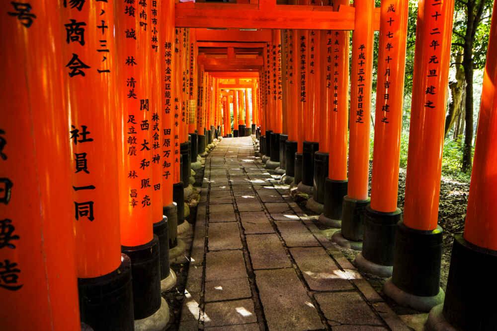 Fushimi Inari Torii gates Kyoto Japan
