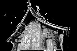 sketch of Laos temple- Backyard Travel