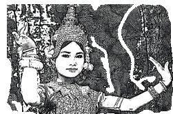 sketc of an apsara dancer - Backyard Travel