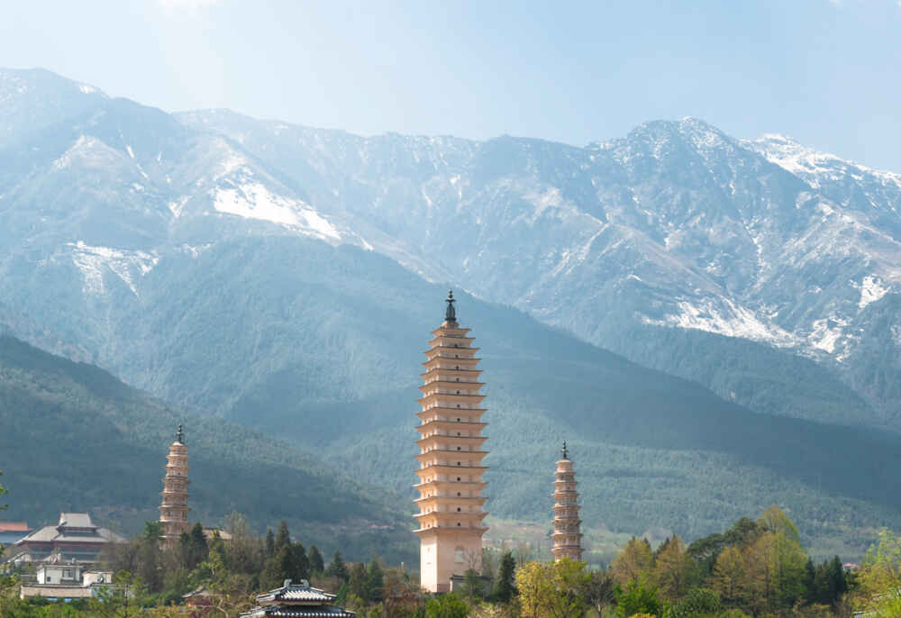 china chinese pagoda mountains