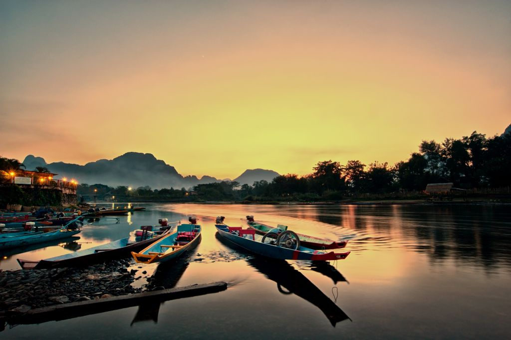 Best time to visit Laos - Song river in VangVien