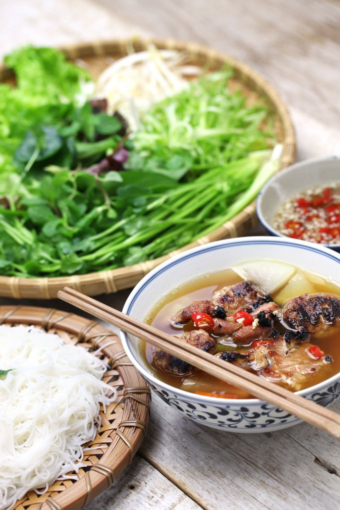Bun cha Vietnamese food