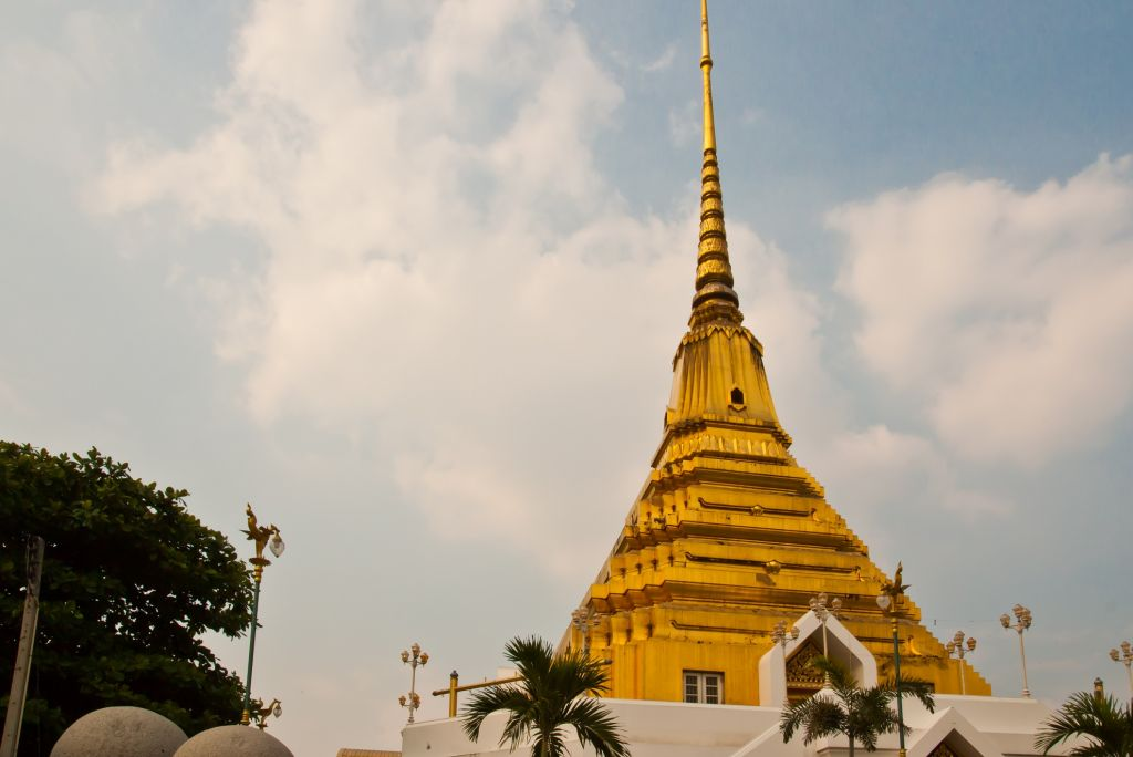 Golden pagoda with trees