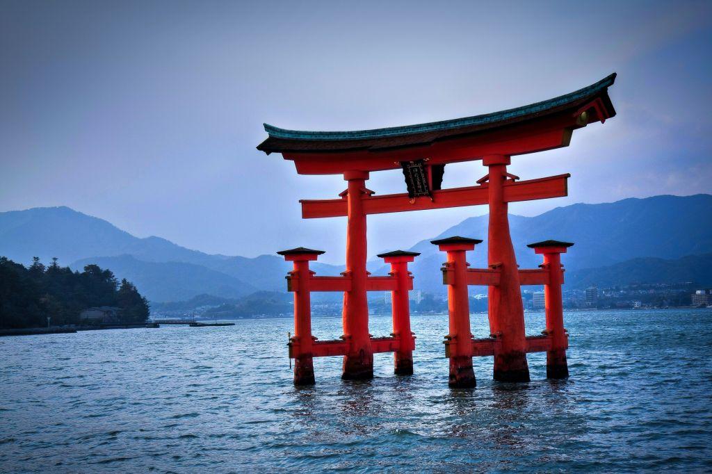 Japan - Miyajima - Torii gate
