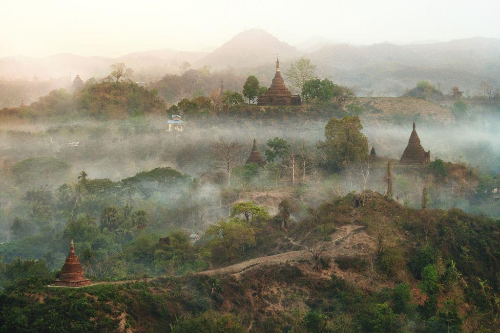 Myanmar - Pagoda in Mrauk U