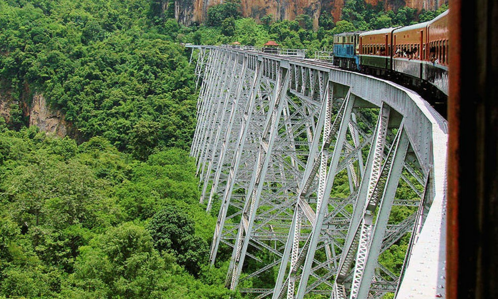 Travel experiences only in Asia: train Gokteik Myanmar