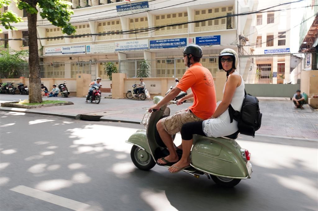 Travel experience only in Asia: Vespa tour in Ho Chi Minh City