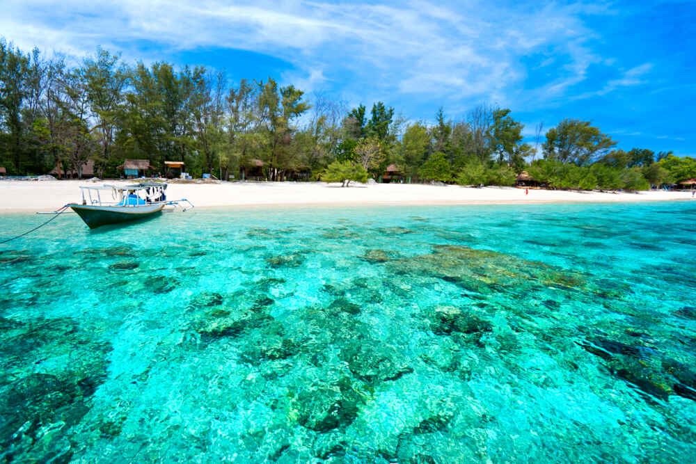 Gili Trawangan beach, one of the most beautiful beach in indonesia