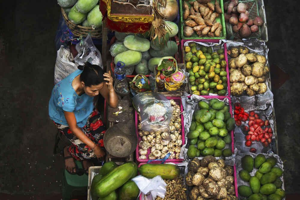 Indonesia Bali Scene at Pasar Badung Bali early morning Denpasars main market
