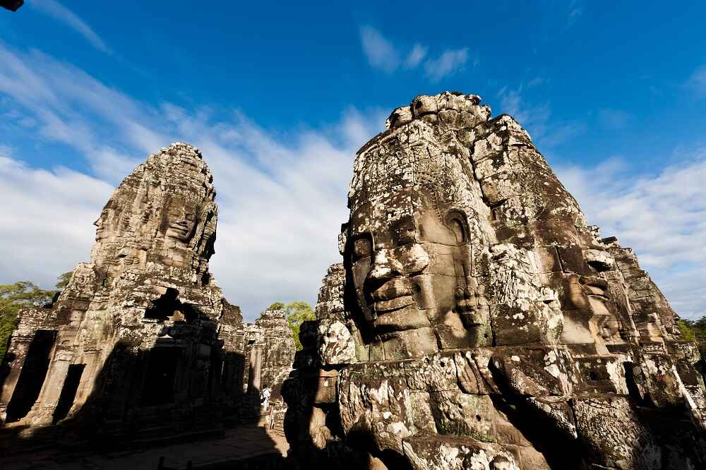 Cambodia Head Statues of ancient Prasat Siem Reap facts about cambodia
