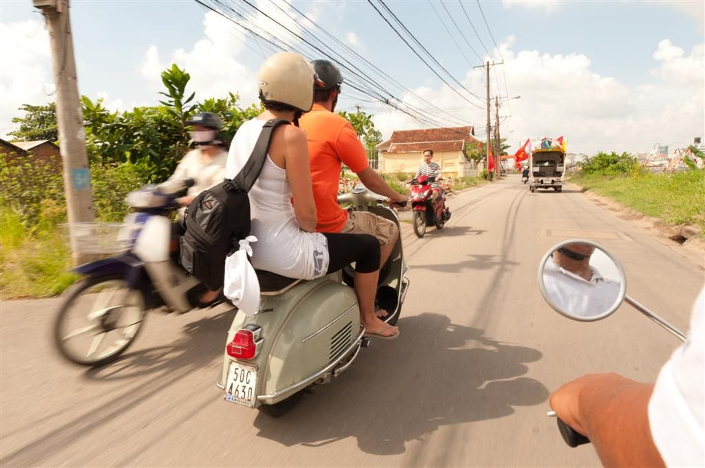 Visit Ho Chi Minh City on a vespa