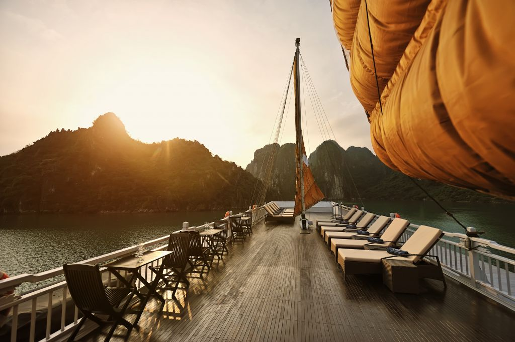Halong Bay is the perfect place to experience luxury cruises in Asia
