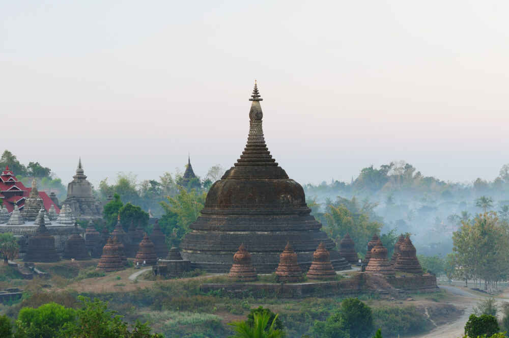 Myanmar Pagodas in Mrauk