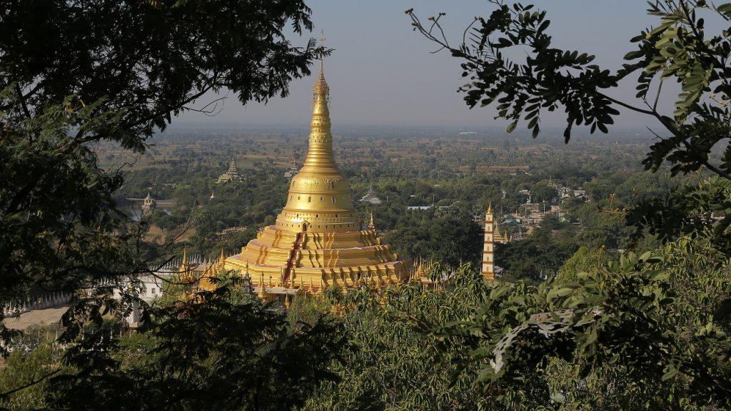 Aung sakkya pagoda po Khaung Taung Monywa Myanmar
