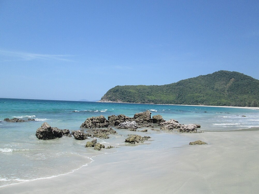 Beach on Southern Myanmar tour