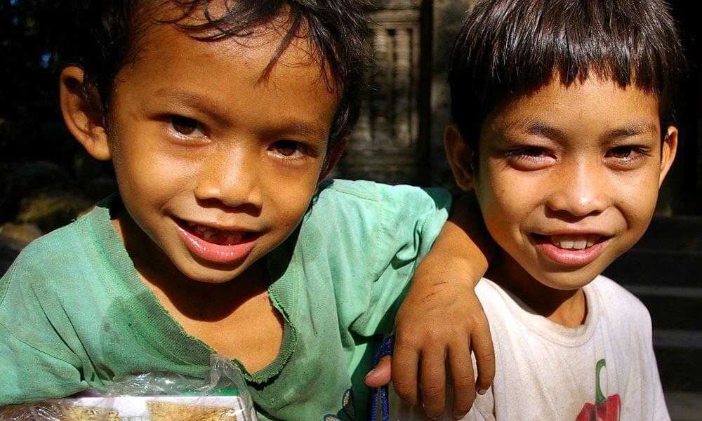 Local Cambodian kids