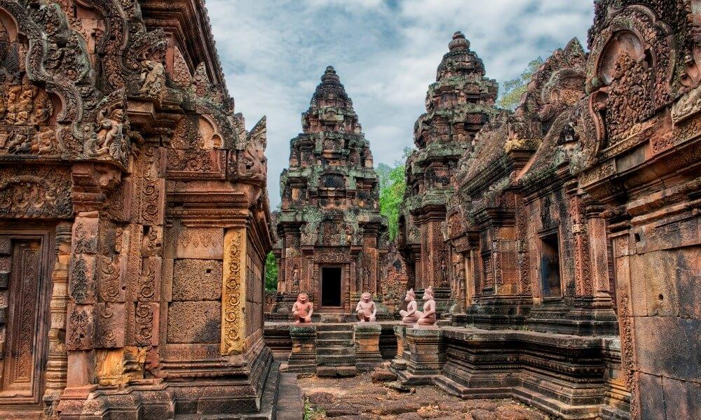 Angkor wat on Khmer Cuisine Tour