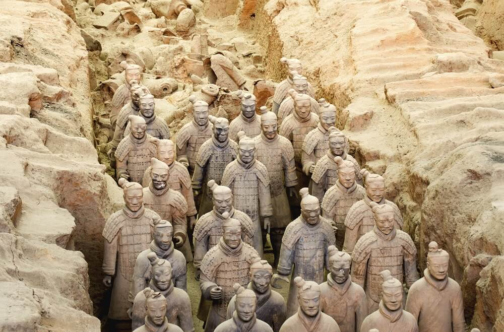 Terracotta warriors seen on the 10 day China tour