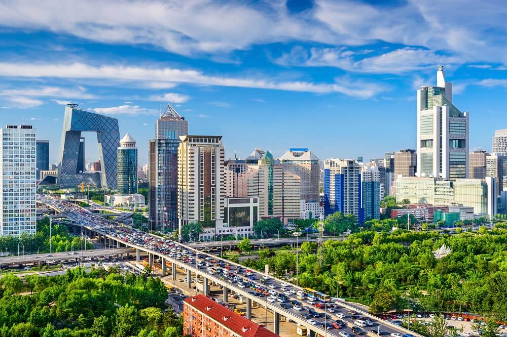 Hong Kong and Beijing Tour: City view of Beijing