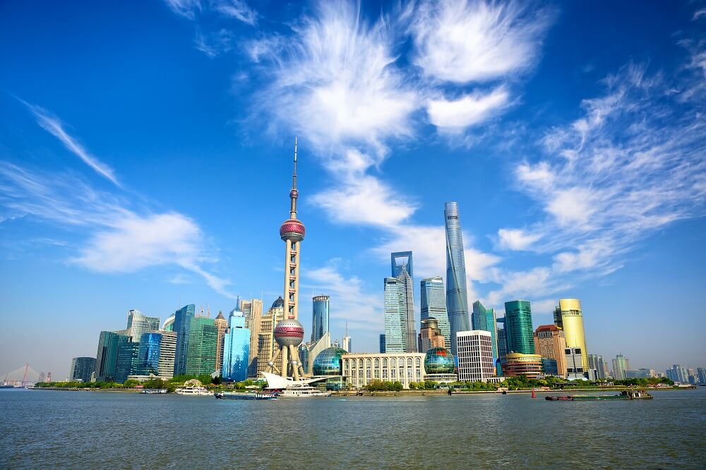 Pudong modern area of Shanghai visited on 10 day China tour