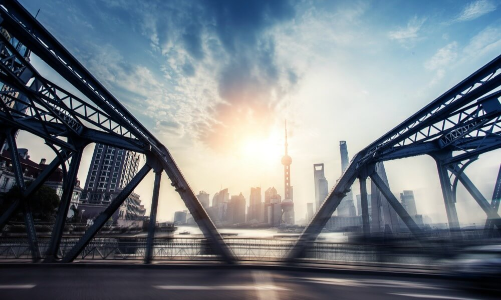 custom China tours: old shanghai bridge