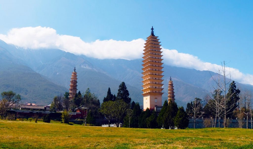 Yunnan by train: Dali Three Pagodas in China