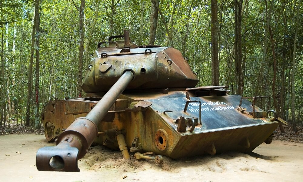 visit cu chi tunnels on a complete vietnam tour with backyard travel