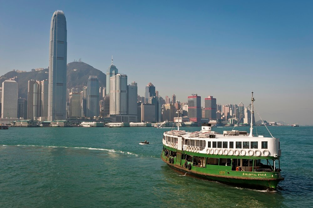 Hong Kong and Beijing Tour: Star ferry in Victoria Harbor