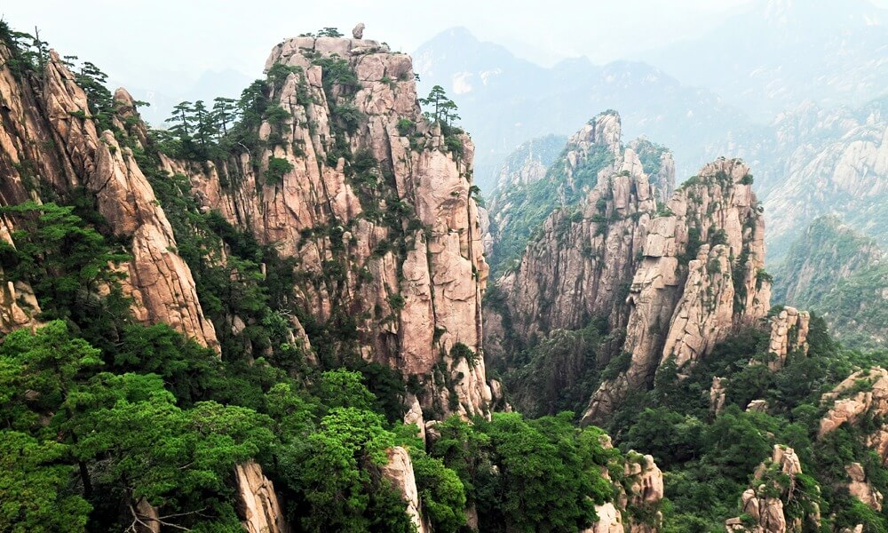 Huangshan Mountain Landscape Eastern China
