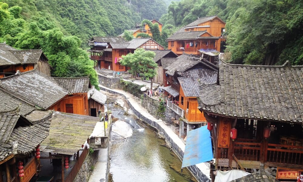 Hunan China tour: Dehang village in China