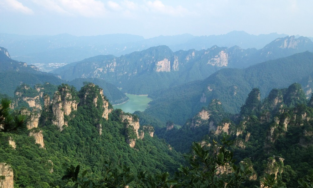 Hunan China tour: Aerial view of Zhangjiajie national park