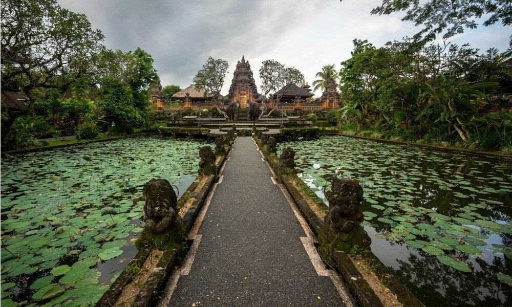 Ubud culture trip: Bali Lotus Pond and Pura Saraswati Temple in Indonesia