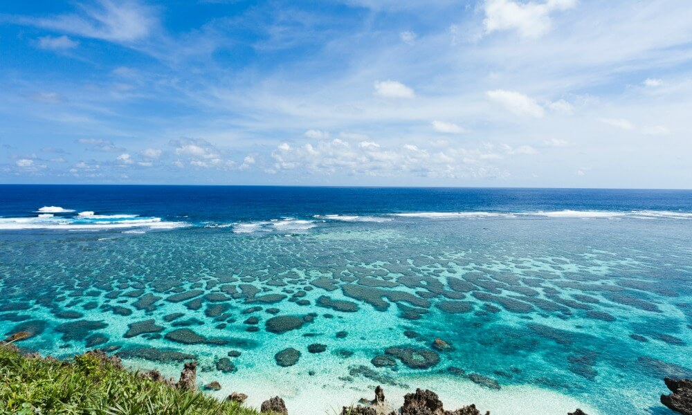Okinawa private tour: Blue sea