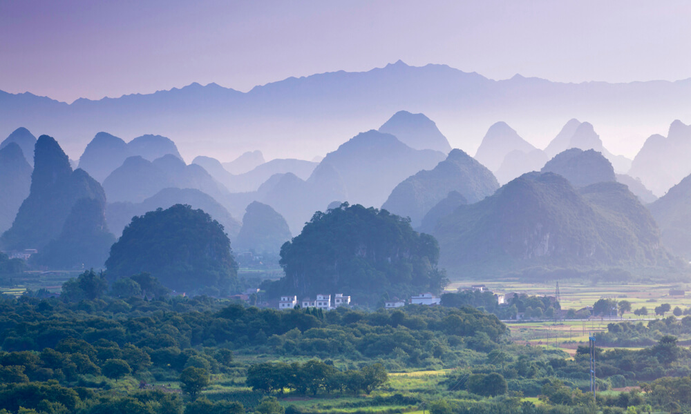 custom China tours: Yangshuo landscape