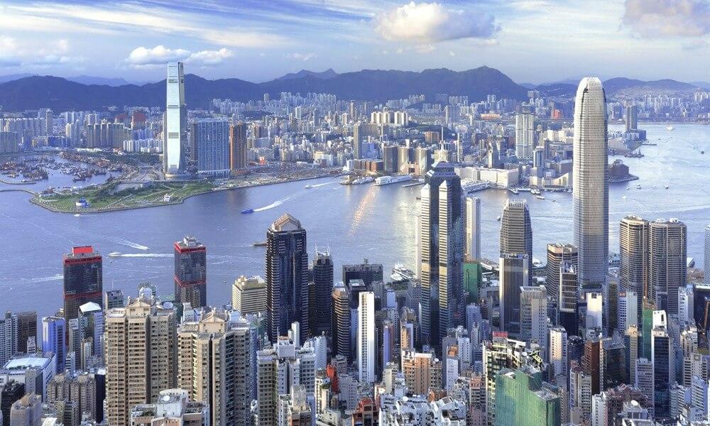 4-day Hong Kong tour: aerial view of Hong Kong