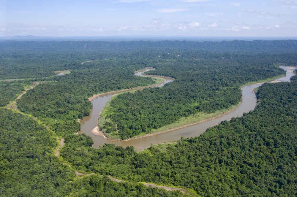Malaysia Borneo Jungle river in Borneo Malaysia