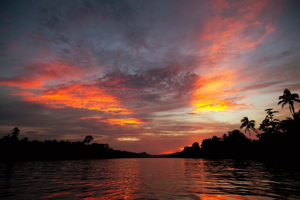 sunrise seen on a luxury tour of Borneo