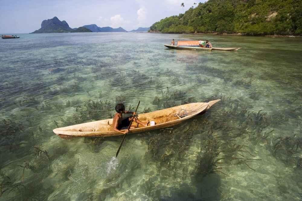 Malaysia Borneo Scenic seaside view at Semporna Sabah