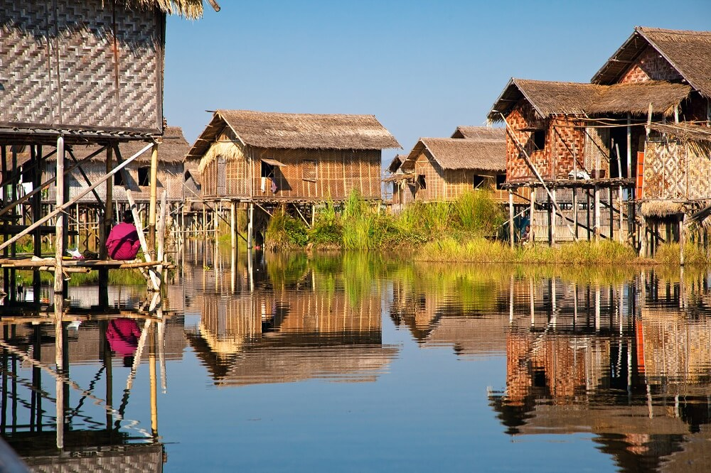 Myanmar family tour: Inle Lake floating houses