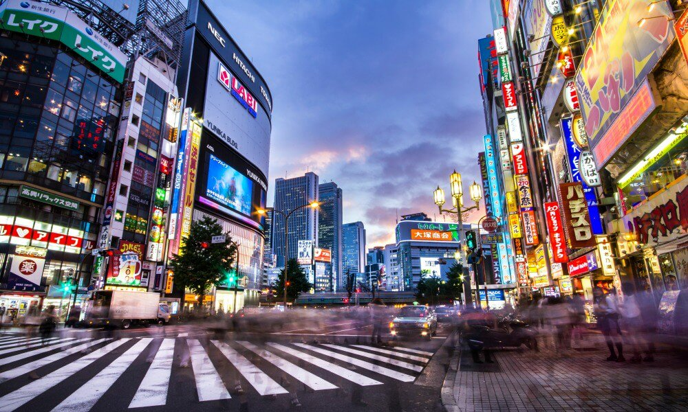 What to do in Japan with kids: Tokyo view on sunset