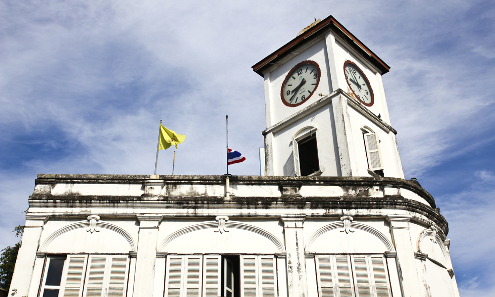 Old building in phuket town visited on private tour Thailand