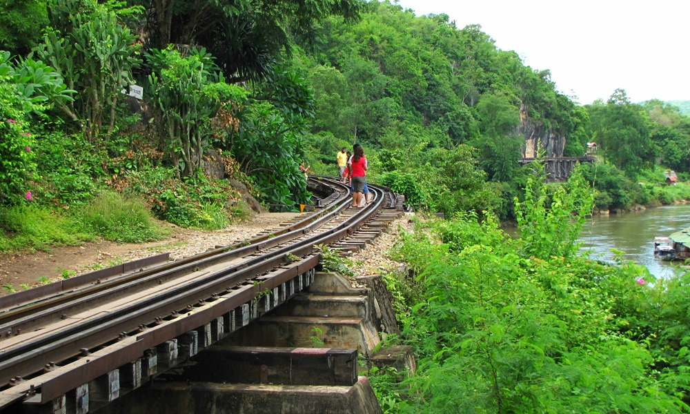 Railway in Kanchanaburi and River Kwai